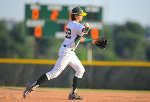 Lake Minneola's Drew Mendoza (22) throws the ball to first base during Tuesday's class 6A regional semifinal baseball game between Lake Minneola and Leesburg at Lake Minneola High School in Minneola, Fla., on May 6, 2014. (Brett Le Blanc / Daily Commercial)